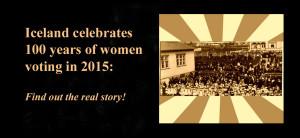 Iceland women's suffrage centeninial